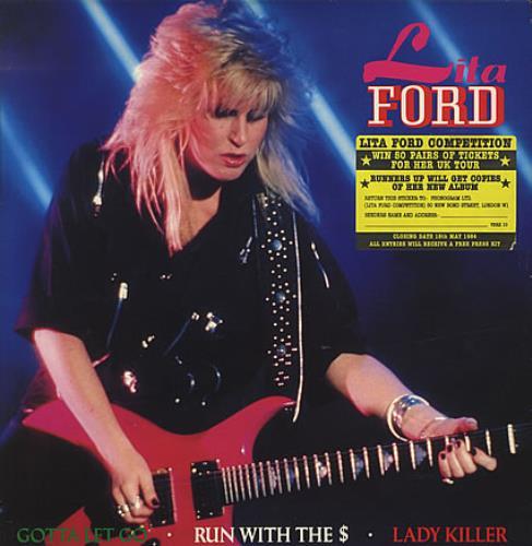 Lita Ford Gotta Let Go Stickered Sleeve Uk 12 Quot Vinyl
