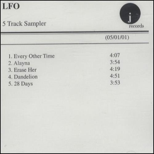 Lite Funky Ones/LFO 5 Track Sampler CD-R acetate US L-FCRTR190813