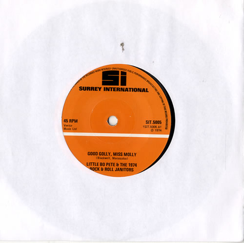 """Little Bo Pete & The 1974 Rock & Roll Janitors Good Golly, Miss Molly 7"""" vinyl single (7 inch record) UK L5107GO573073"""