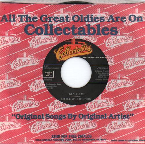 "Little Willie John Talk To Me 7"" vinyl single (7 inch record) US L0307TA634498"