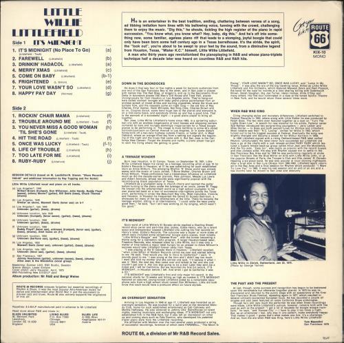 Little Willie Littlefield It's Midnight vinyl LP album (LP record) Swedish LW5LPIT708579