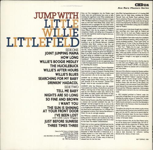 Little Willie Littlefield Jump With vinyl LP album (LP record) UK LW5LPJU719940