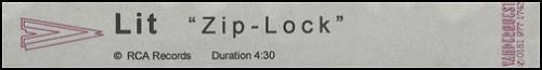 Lit Zip-Lock video (VHS or PAL or NTSC) UK TILVIZI180447