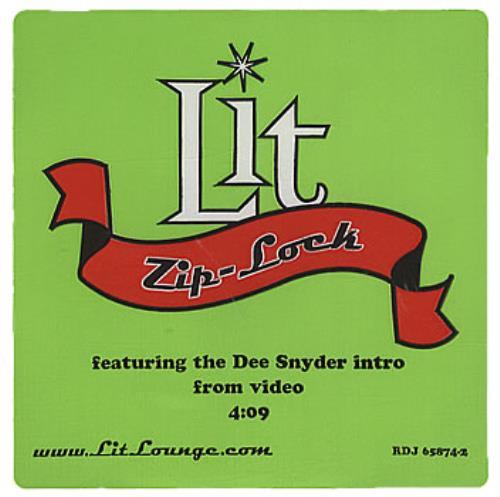 """Lit Zip-Lock CD single (CD5 / 5"""") US TILC5ZI386425"""
