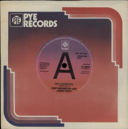 "Liverpool FC My Liverpool - 'A'-label 7"" vinyl single (7 inch record) UK LFC07MY751650"