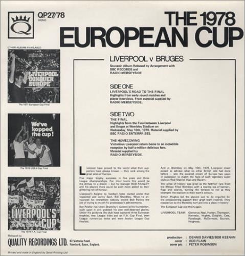 Liverpool FC The Legend Of Europe vinyl LP album (LP record) UK LFCLPTH119649