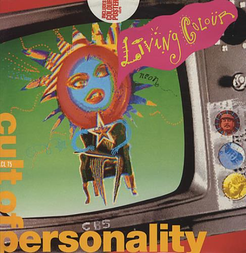 """Living Colour Cult Of Personality + poster 12"""" vinyl single (12 inch record / Maxi-single) UK LIV12CU278569"""
