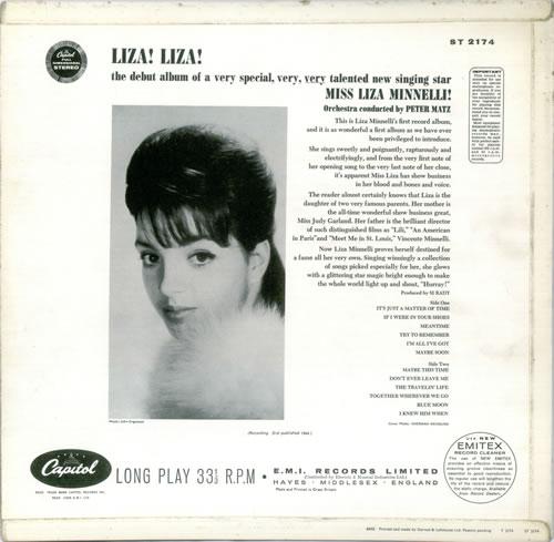 Liza Minnelli Liza! Liza! vinyl LP album (LP record) UK LIZLPLI451749