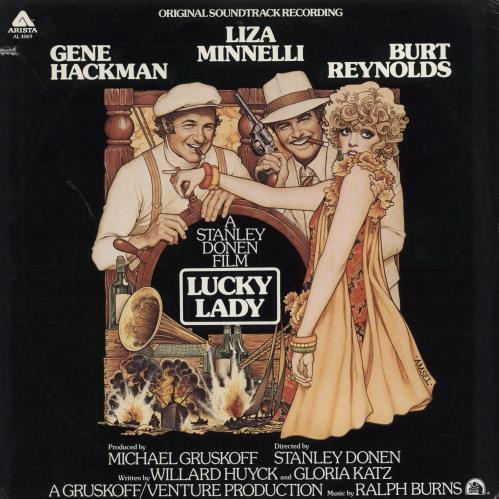 Liza Minnelli Lucky Lady - stickered shrink vinyl LP album (LP record) US LIZLPLU700075