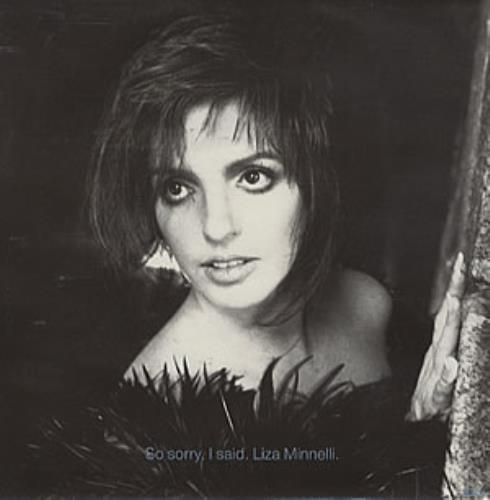 "Liza Minnelli So Sorry I Said 7"" vinyl single (7 inch record) UK LIZ07SO67218"