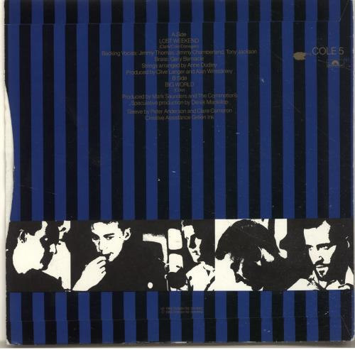 """Lloyd Cole Lost Weekend - Injection 7"""" vinyl single (7 inch record) UK LLO07LO695287"""