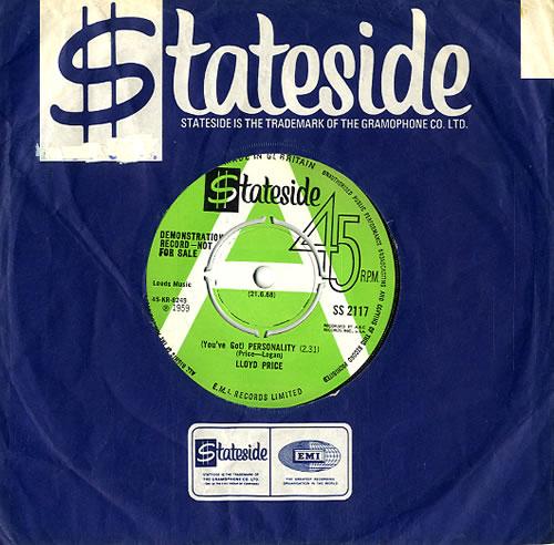 "Lloyd Price (You've Got) Personality 7"" vinyl single (7 inch record) UK LPC07YO591516"
