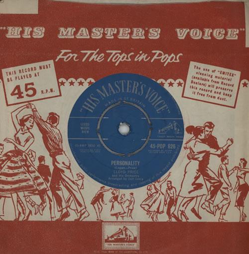 "Lloyd Price Personality 7"" vinyl single (7 inch record) UK LPC07PE571602"