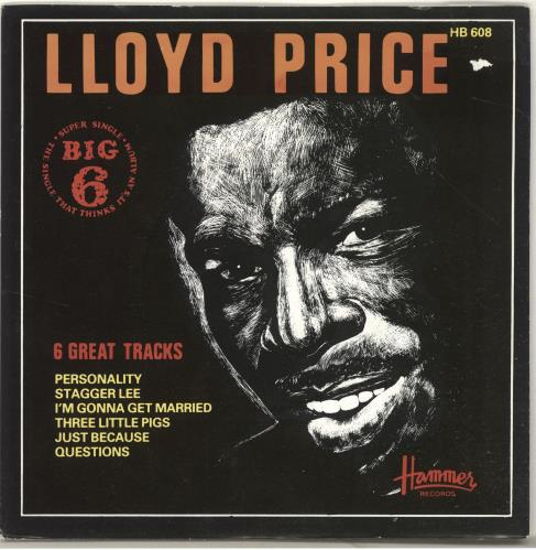 "Lloyd Price The Big Six EP 7"" vinyl single (7 inch record) UK LPC07TH571603"