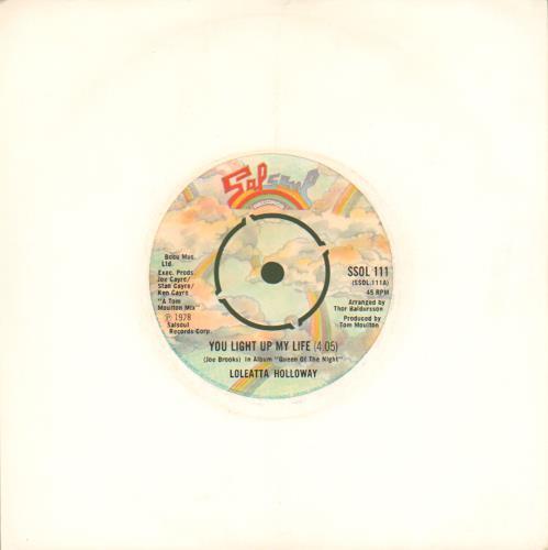 "Loleatta Holloway You Light Up My Life 7"" vinyl single (7 inch record) UK LLH07YO677524"