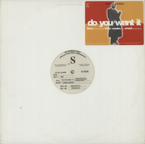 "Lonnie Gordon Do You Want It 12"" vinyl single (12 inch record / Maxi-single) US LNG12DO84894"