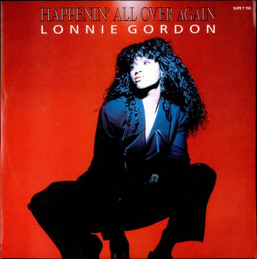 "Lonnie Gordon Happenin' All Over Again 12"" vinyl single (12 inch record / Maxi-single) UK LNG12HA44788"