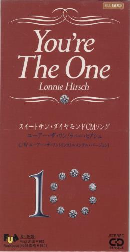 "Lonnie Hirsch You're The One - Promo Stickered 3"" CD single (CD3) Japanese ZTSC3YO720323"