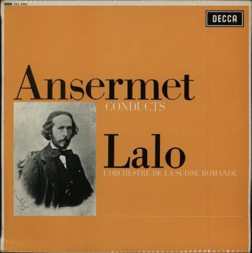 L'Orchestre De La Suisse Romande Ansermet Conducts Lalo - 1st vinyl LP album (LP record) UK N7OLPAN751637