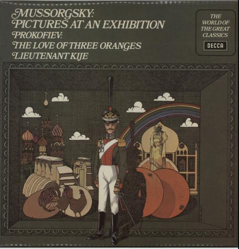 L'Orchestre De La Suisse Romande Mussorgsky: Pictures At An Exhibition/ Prokofiev: Lieutenant Kije/ The Love Of Three Oranges vinyl LP album (LP record) UK N7OLPMU651151