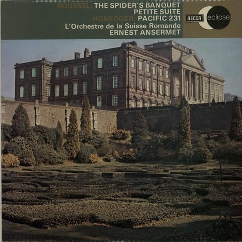 L'Orchestre De La Suisse Romande Roussel: The Spider's Banquet & Petite Suite Pour Orchestra / Honegger: Pacific 231 vinyl LP album (LP record) UK N7OLPRO634479