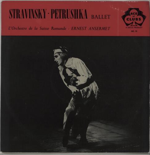 L'Orchestre De La Suisse Romande Stravinsky : Petrushka vinyl LP album (LP record) UK N7OLPST670156