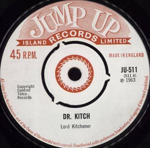 "Lord Kitchener Dr. Kitch - 3pr 7"" vinyl single (7 inch record) UK LR607DR503781"