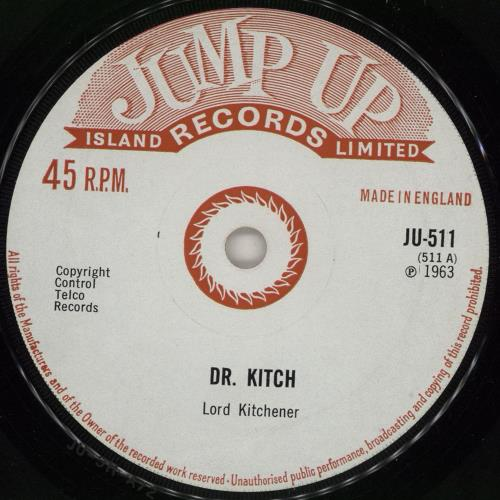 """Lord Kitchener Dr. Kitch - solid 7"""" vinyl single (7 inch record) UK LR607DR762334"""
