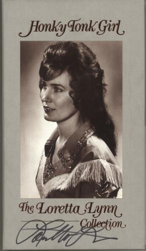 Loretta Lynn Honky Tonk Girl - The Loretta Lynn Collection - Autographed CD Album Box Set US LAYDXHO748429