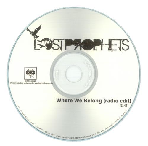 Lostprophets Where We Belong CD-R acetate Japanese LPRCRWH520272