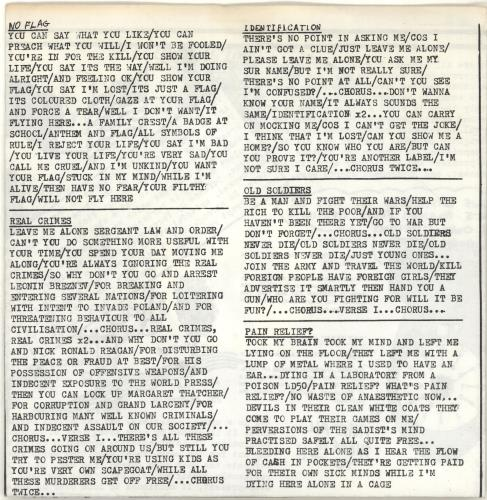 "Lost Cherrees No Fighting No War No Trouble No More 7"" vinyl single (7 inch record) UK QQ107NO692316"