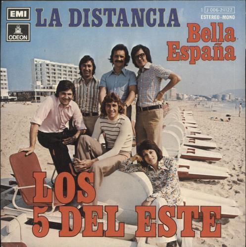 """Los 5 Del Este La Distancia 7"""" vinyl single (7 inch record) Spanish Q8U07LA709439"""