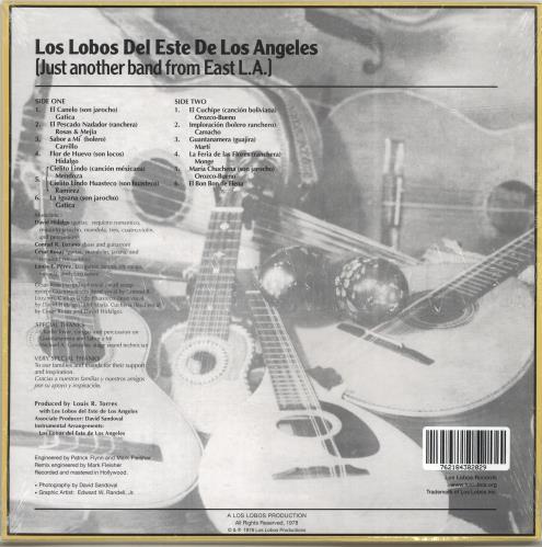 Los Lobos Just Another Band From East L.A. - Yellow Vinyl - Sealed vinyl LP album (LP record) US LOSLPJU691220
