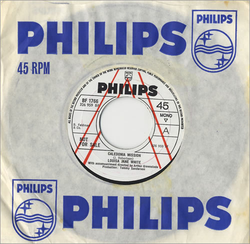 "Louisa Jane White Caledonia Mission 7"" vinyl single (7 inch record) UK LJW07CA474223"