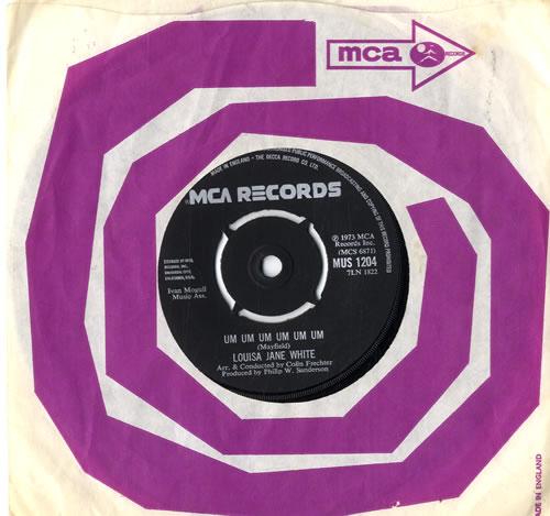"""Louisa Jane White Um Um Um Um Um Um 7"""" vinyl single (7 inch record) UK LJW07UM605256"""