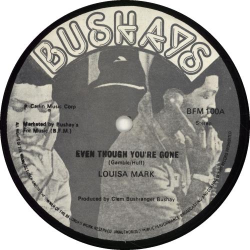 "Louisa Mark Even Though You're Gone 12"" vinyl single (12 inch record / Maxi-single) UK QS812EV700270"