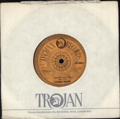 "Louisa Mark Keep It Like It Is / Fatty Bum Bum Gone To Jail 7"" vinyl single (7 inch record) UK QS807KE723000"