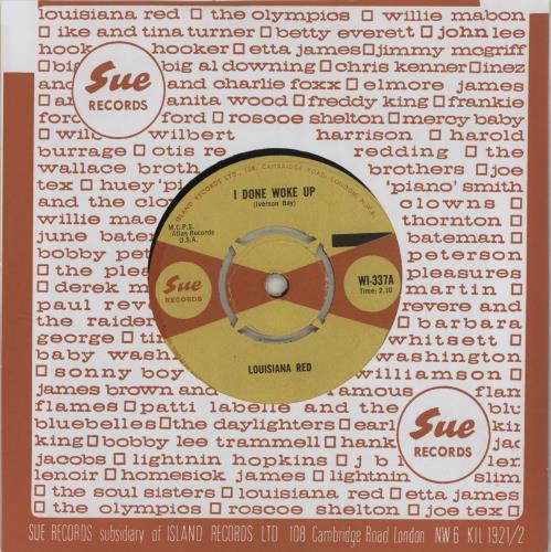 """Louisiana Red I Done Woke Up 7"""" vinyl single (7 inch record) UK LO207ID648582"""