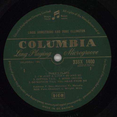 Louis Armstrong & Duke Ellington Louis Armstrong & Duke Ellington vinyl LP album (LP record) UK L84LPLO710347