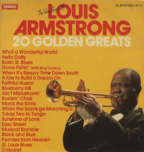 Louis Armstrong 20 Golden Greats Uk Vinyl Lp Album Lp