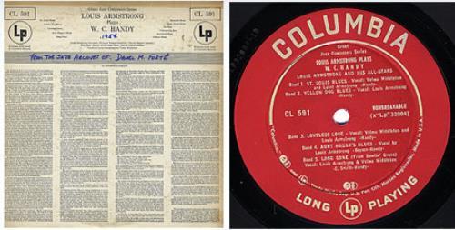 Louis Armstrong Plays W.C. Handy vinyl LP album (LP record) US LOALPPL360826