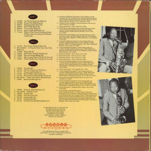 Louis Jordan Jivin' With Jordan 2-LP vinyl record set (Double Album) UK LJD2LJI776112