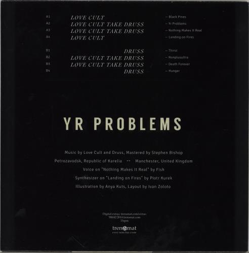Love Cult Yr Problems - Blue vinyl vinyl LP album (LP record) Irish 143LPYR752214
