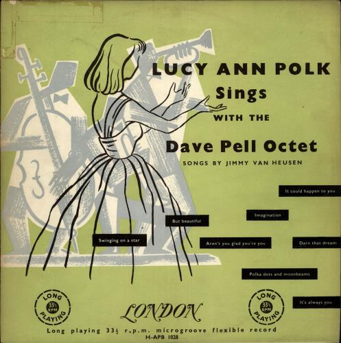 """Lucy Ann Polk Sings With The Dave Pell Octet Songs By Jimmy Van Heusen 10"""" vinyl single (10"""" record) UK L0D10SI700706"""