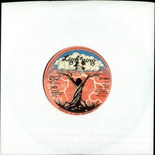"""Lucy Really Got Me Goin' 7"""" vinyl single (7 inch record) UK LU907RE503969"""