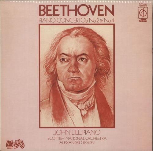 Ludwig Van Beethoven Piano Concertos No. 2 & No. 4 vinyl LP album (LP record) UK LVBLPPI732803