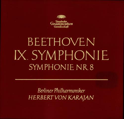 Ludwig Van Beethoven Symphonien 8 & 9 Vinyl Box Set German LVBVXSY535685