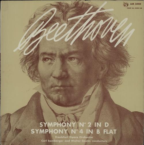 Ludwig Van Beethoven Symphony No. 2 In D Major / Symphony No. 4 In B Flat Major vinyl LP album (LP record) UK LVBLPSY634315