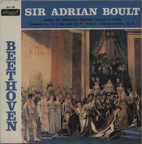 Ludwig Van Beethoven Symphony No. 3 In E Flat Major, Op. 55 Eroica vinyl LP album (LP record) UK LVBLPSY669381