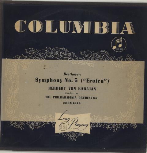 Ludwig Van Beethoven Symphony No. 3 in E Flat Major, Op. 55 vinyl LP album (LP record) UK LVBLPSY676037